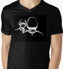DAFT PUNK LOGO T-Shirt mit V-Ausschnitt