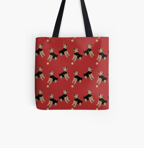 'Betsi'- Welsh Terrier Christmas Design All Over Print Tote Bag