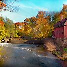 Autumn - Cranford, NJ - Droescher's Mill by Michael Savad