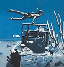 Free Diver DEEP BLUE SEA by Mirjam Griffioen