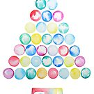 abstract Christmas tree watercolor  by ColorandColor