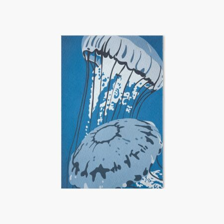 Jellyfish DEEP BLUE SEA Art Board Print