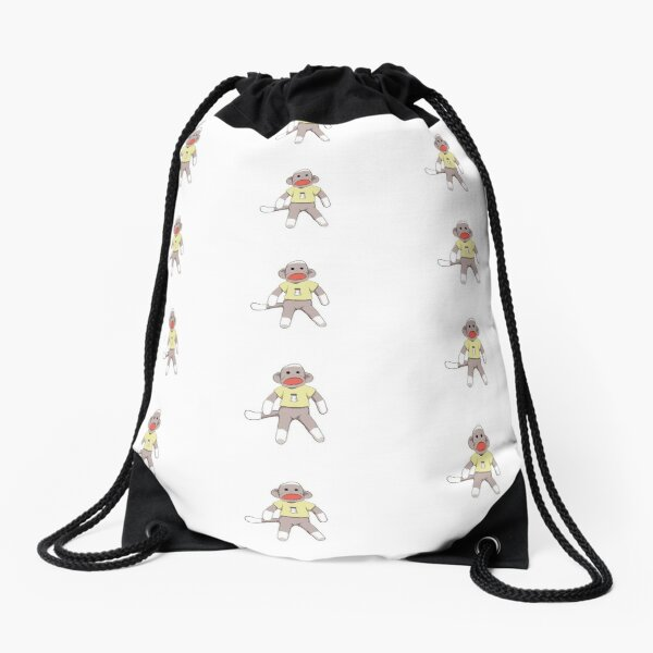Salty Sock Monkey Drawstring Bag