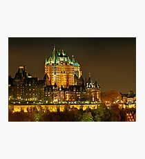 Night view of Le Chateau Frontenac, Quebec City Photographic Print