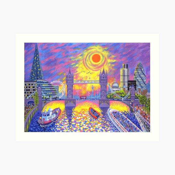 Sunset-Pool of London Art Print