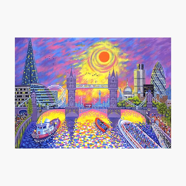 Sunset-Pool of London Photographic Print