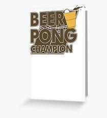 Beer Pong Funny TShirt Epic T-shirt Humor Tees Cool Tee Greeting Card