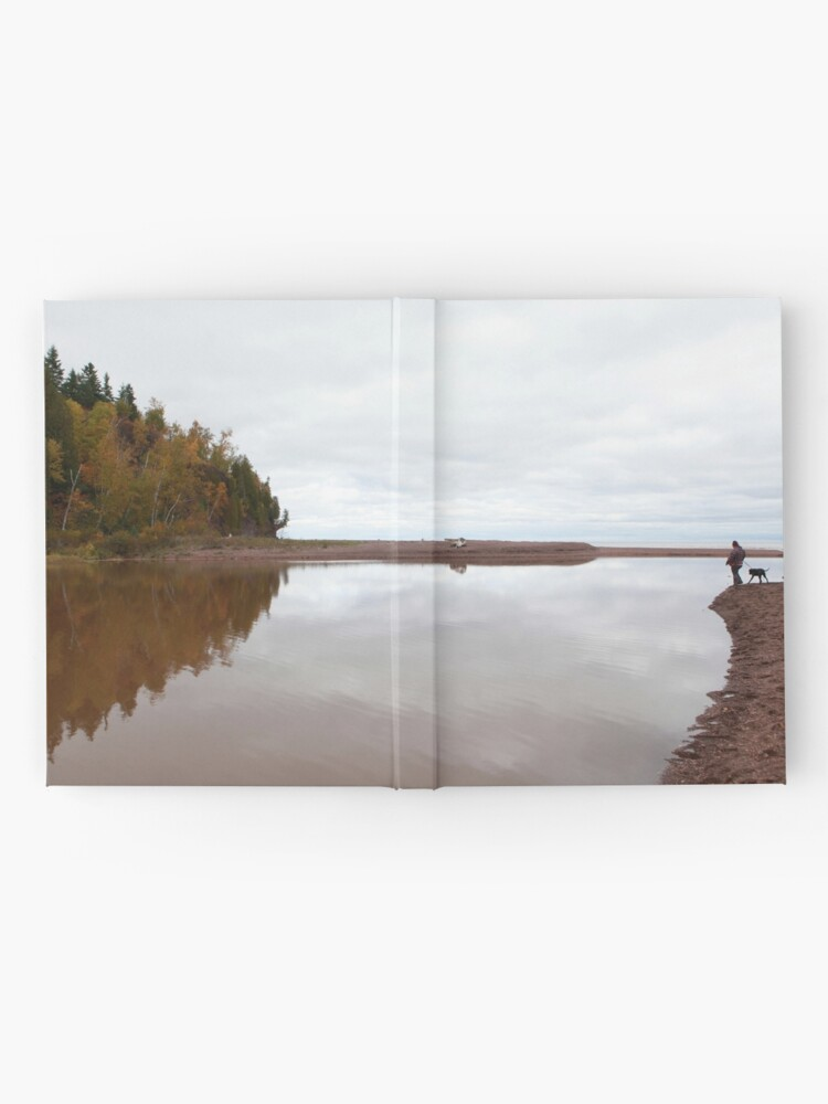 Alternate view of Mouth of the Gooseberry River Hardcover Journal