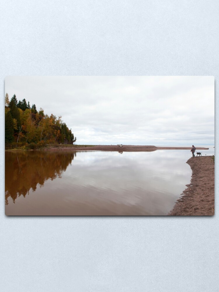 Alternate view of Mouth of the Gooseberry River Metal Print