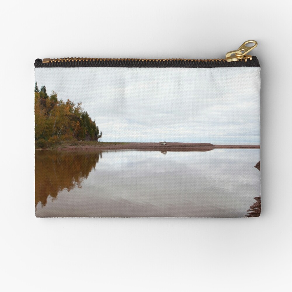 Mouth of the Gooseberry River Zipper Pouch