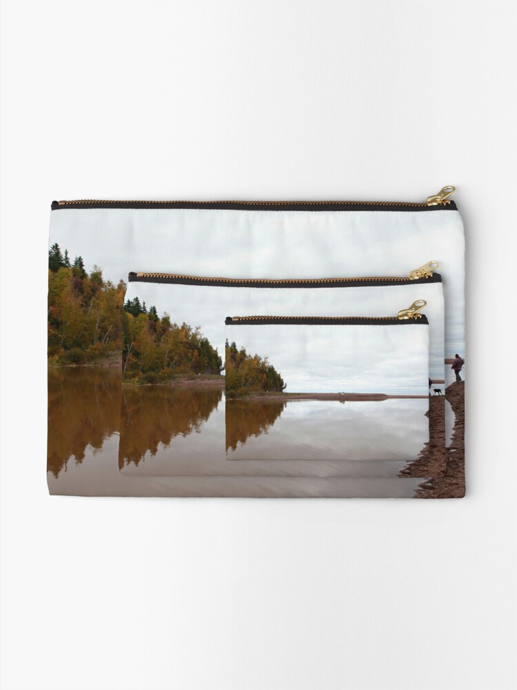 Alternate view of Mouth of the Gooseberry River Zipper Pouch