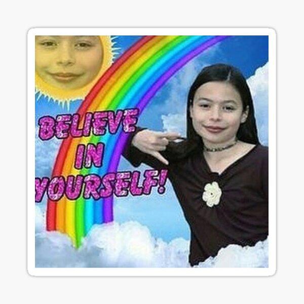 believe in uself! Sticker