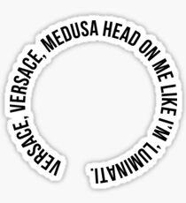 Versace head Sticker