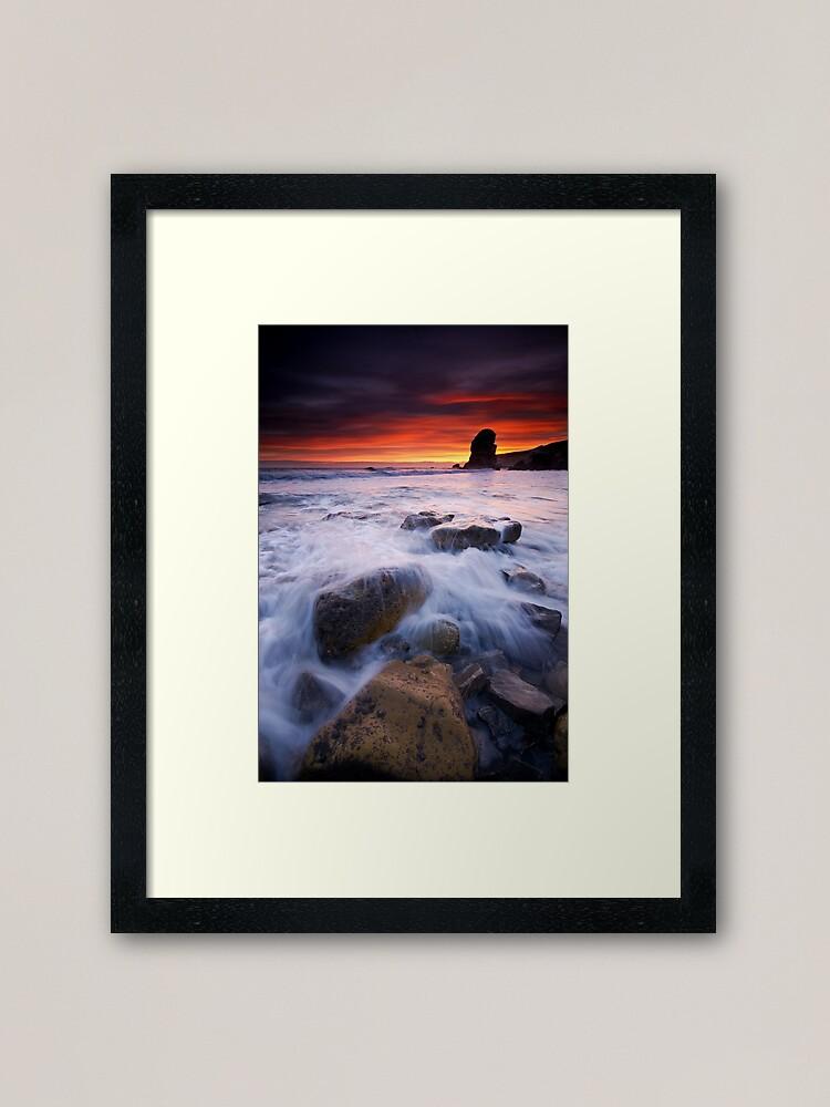 Alternate view of Winters dawn Framed Art Print