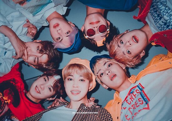 Bts Cute Group Poster Sg 2019 Posters By Kpoptokens Redbubble