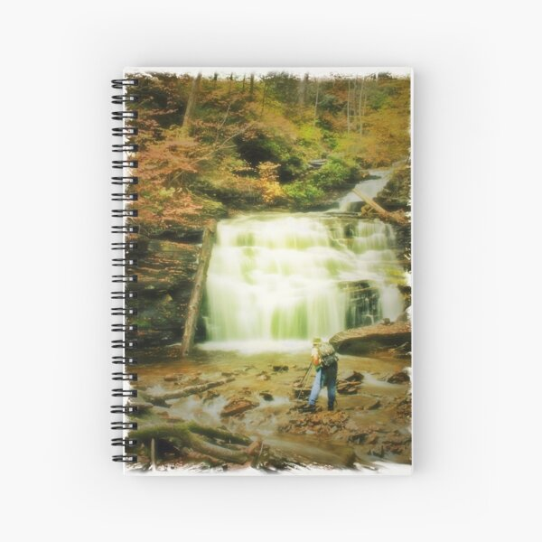 Tim at Mohican Falls Spiral Notebook