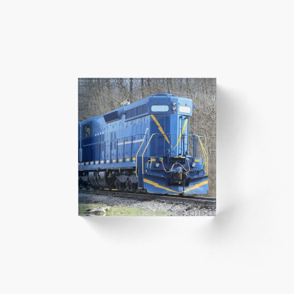Blue Locomotive Acrylic Block