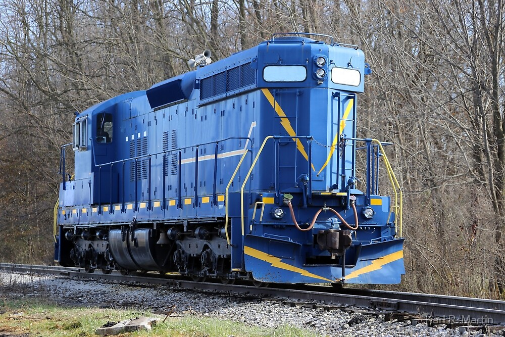 Blue Locomotive by Karl R. Martin