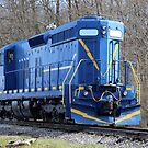 Blue Locomotive by Karl R. Martin