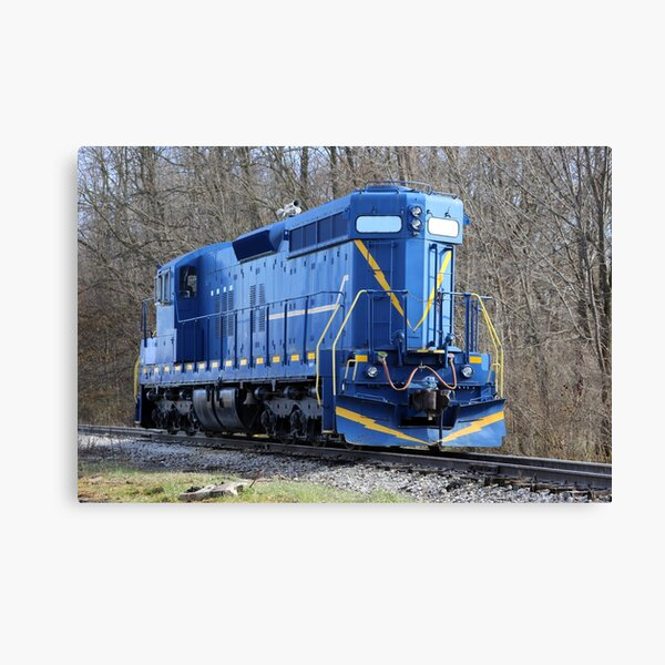 Blue Locomotive Canvas Print