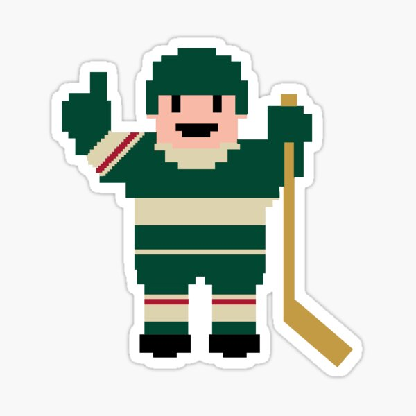 Minnesota Hockey Player Sticker