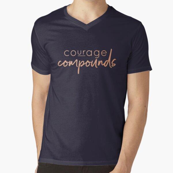 Courage Compounds V-Neck T-Shirt