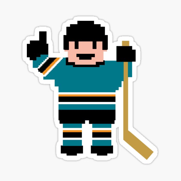 San Jose Hockey Player Sticker