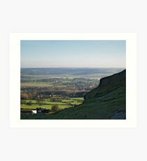 Lower Wharfedale from Almscliff Crag Art Print
