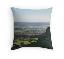 Lower Wharfedale from Almscliff Crag Throw Pillow