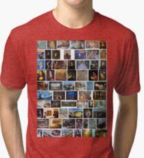 Most Famous Paintings #Most #Famous #Paintings #FamousPaintings VanGogh StarryNight VincentVanGogh Tri-blend T-Shirt