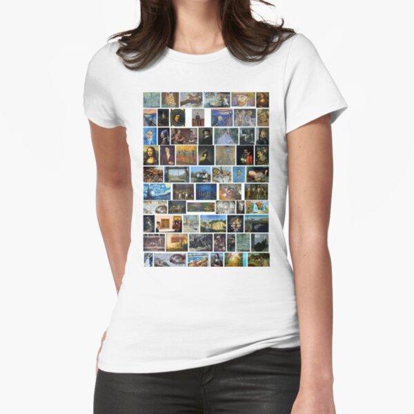 Most Famous Paintings #Most #Famous #Paintings #FamousPaintings VanGogh StarryNight VincentVanGogh Fitted T-Shirt