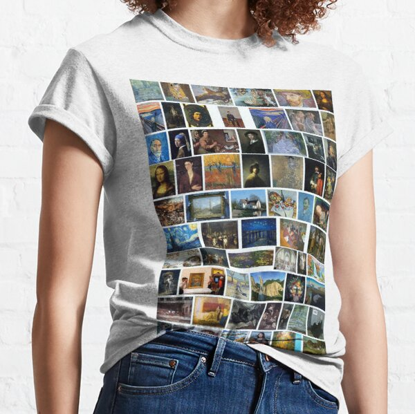 Print, Most Famous Paintings #Most #Famous #Paintings #FamousPaintings VanGogh StarryNight VincentVanGogh Classic T-Shirt