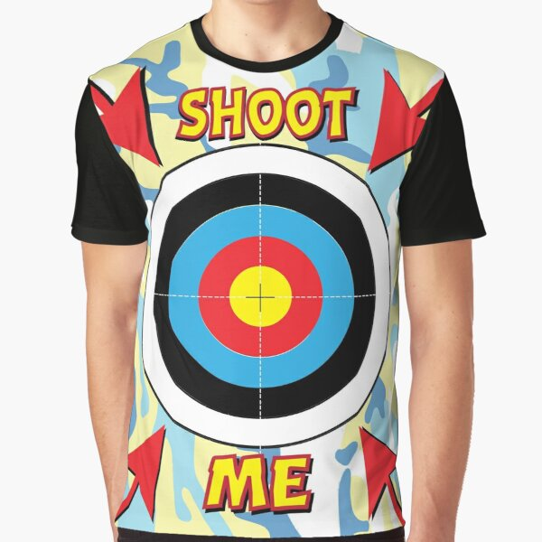 Paintball Stag & Hen Do Shoot Me Target Graphic T-Shirt