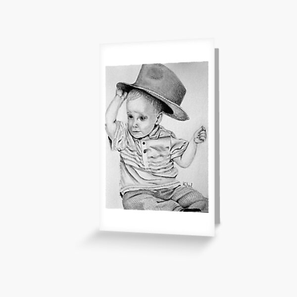 A Boy and his Hat Greeting Card