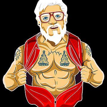 Sexy Santa Claus Santa Claus Muscles Tattoos Gay LGBT Gift by Netsrikfa