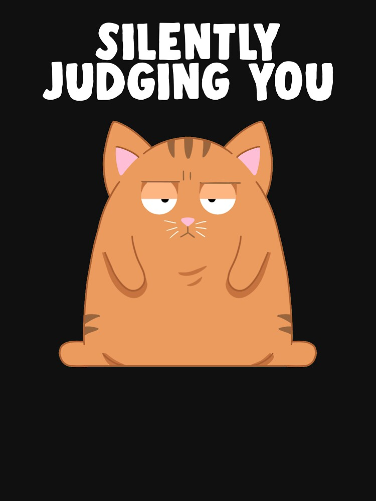 Silently Judging You | Funny Cat Judge by Kittyworks