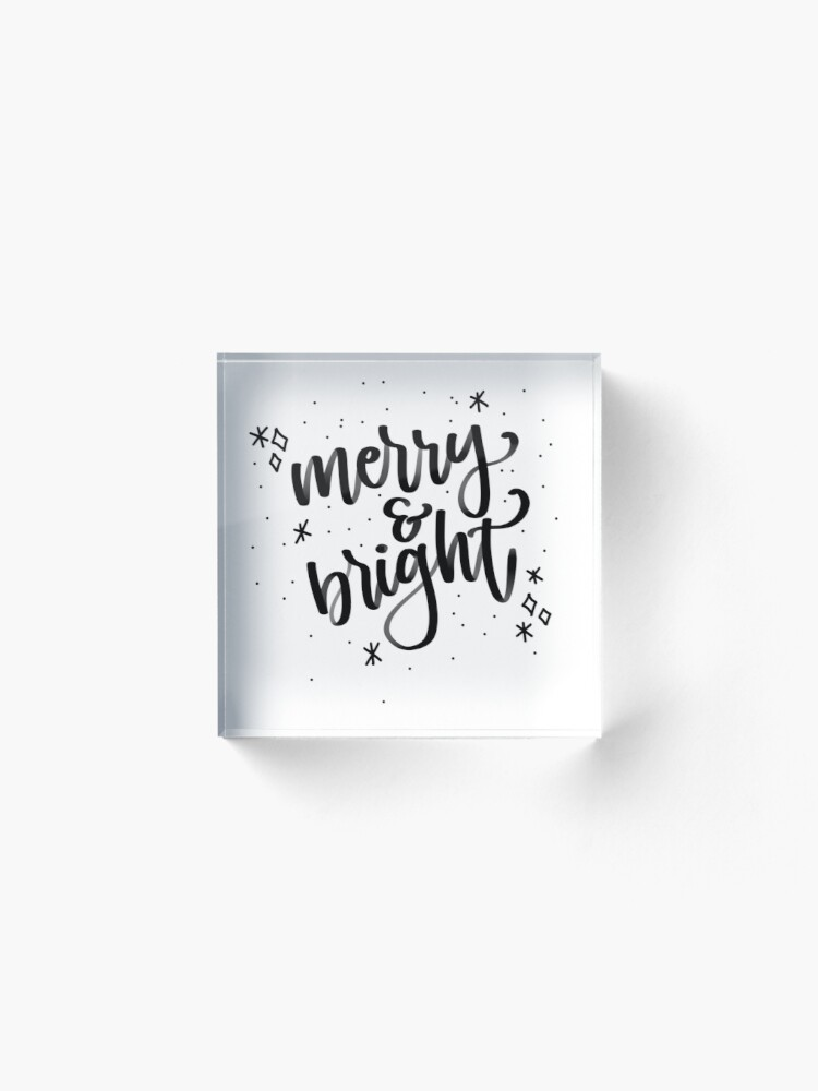 Alternate view of Merry and Bright Acrylic Block