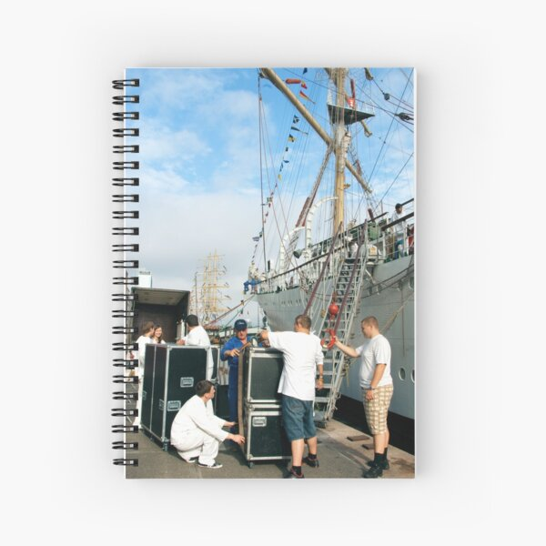 "Loading the ""Dar Mlodziezy"" Spiral Notebook"