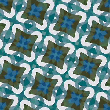 Teal abstract by jaclynart