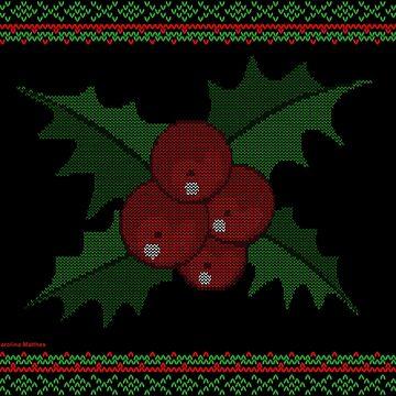 Knitted Mistletoe by CarolinaMatthes