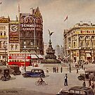 Vintage Piccadilly Circus London by aapshop