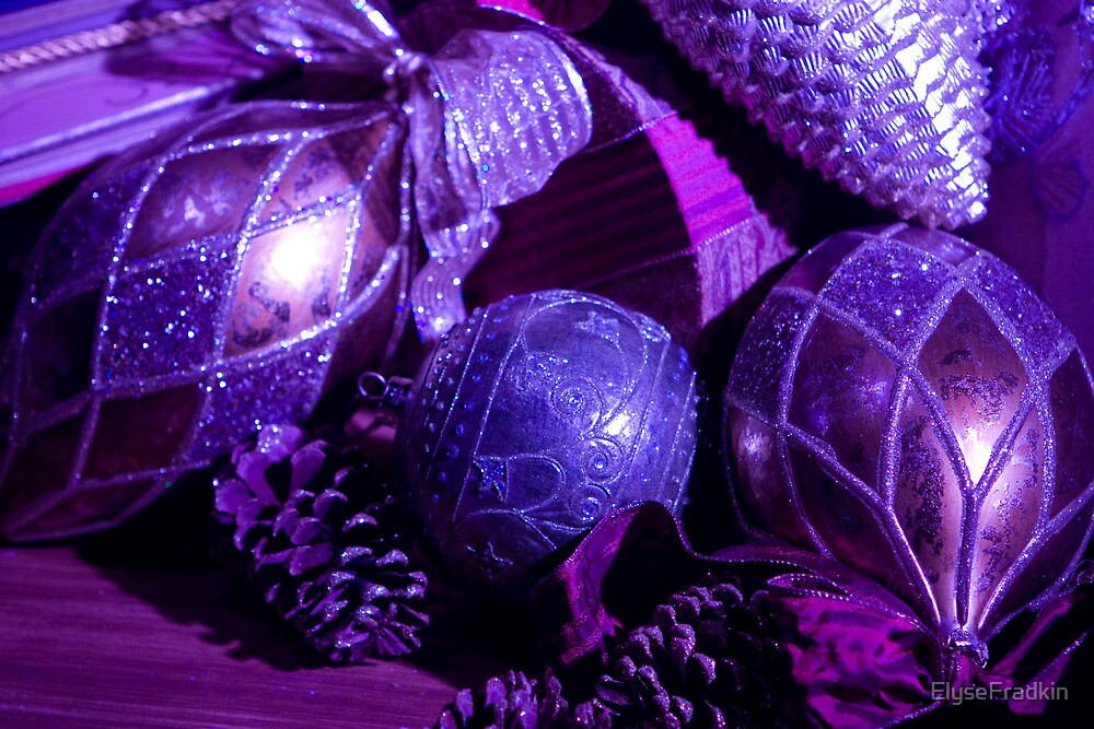 Quot Purple Holiday Baubles Quot By Elysefradkin Redbubble