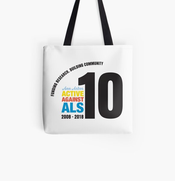 10 Years Active Against ALS All Over Print Tote Bag