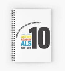 10 Years Active Against ALS Spiral Notebook