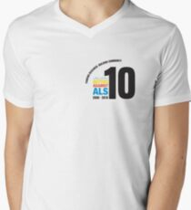 10 Years Active Against ALS Men's V-Neck T-Shirt