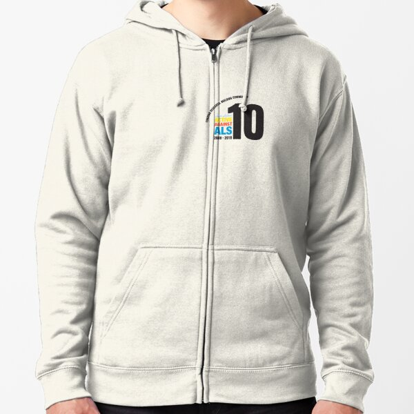 10 Years Active Against ALS Zipped Hoodie