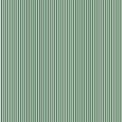 Thin Forest Green and White Rustic Vertical Sailor Stripes by honorandobey