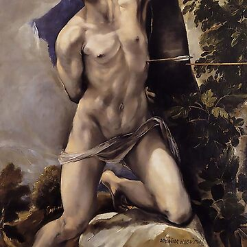 ST SEBASTIAN CLASSIC MALE NUDE by TOM75