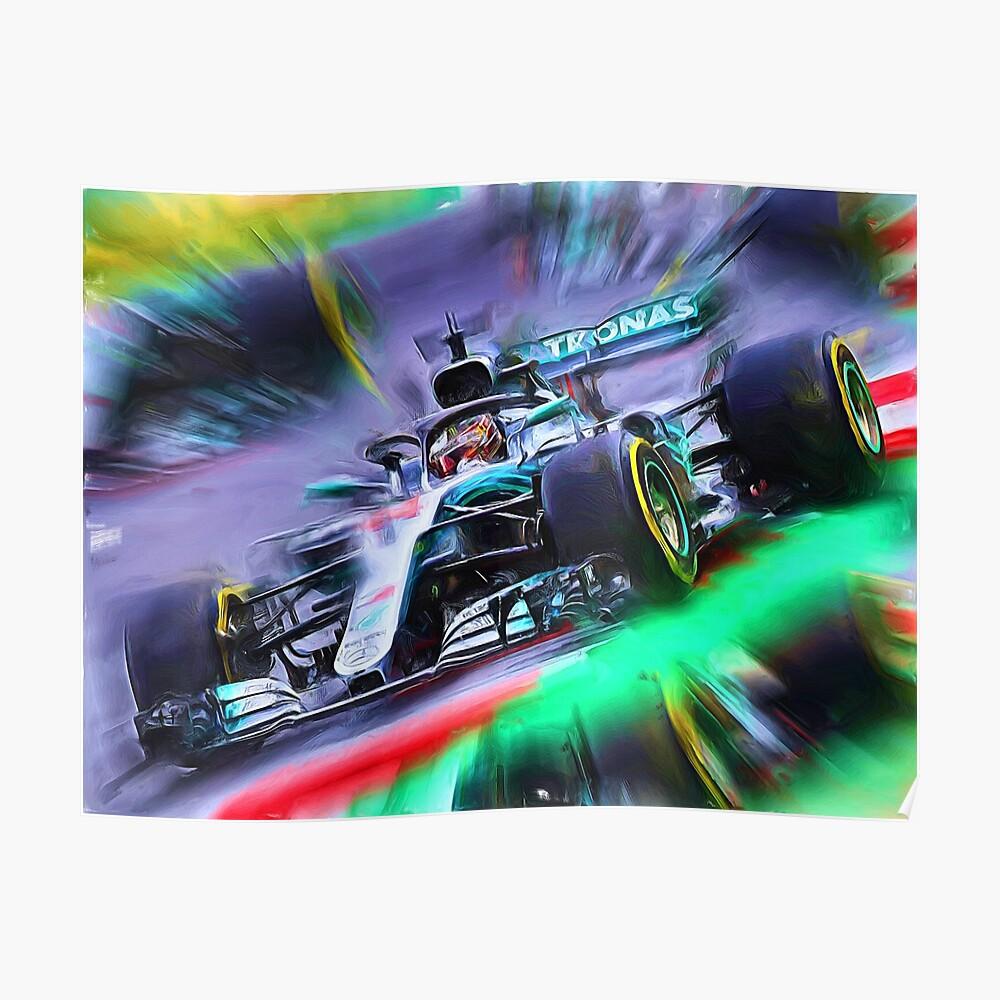 Lewis Hamilton #44 - Word Champion F1 2018 Poster