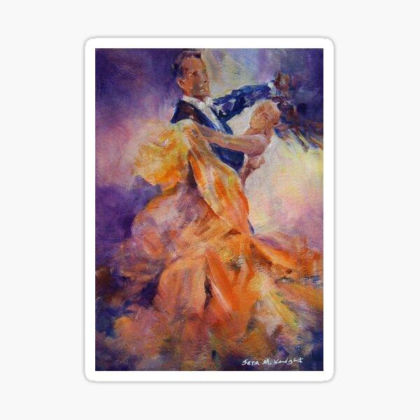 Ballroom Dancing – Dance Art Gallery 32 The Waltz Sticker